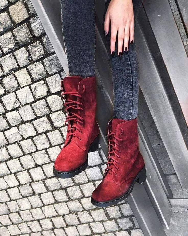 Essenza burgundy suede ankle boots