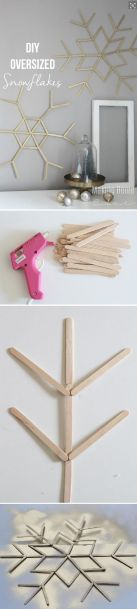 cool Popsicle Stick Snowflakes