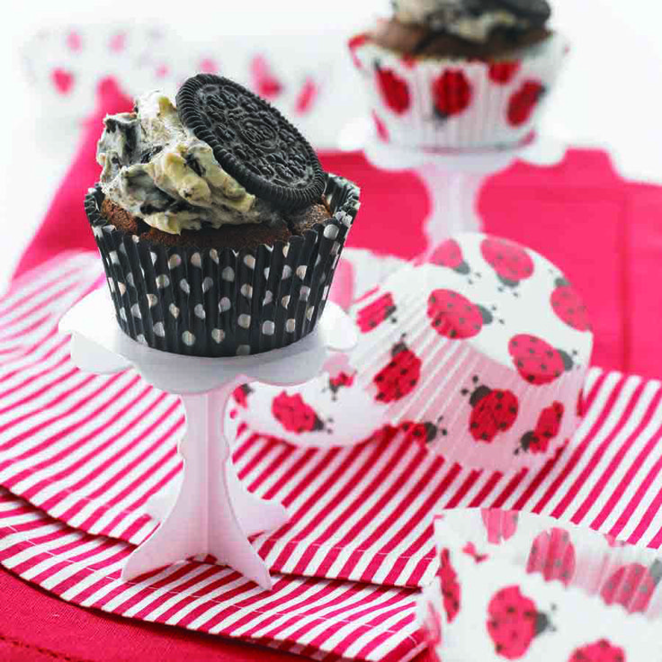 OREO Black Bottom Cupcakes with OREO Cream