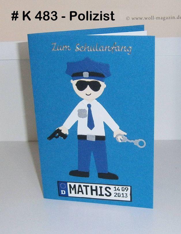 Einladung Karte Kindergeburtstag Polizei