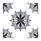 Regency Black RETile Decal, White Background - Contemporary - Wall Decals - by Odhams Press