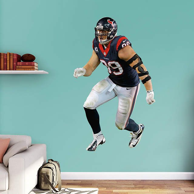 Houston Texans fan? Prove it! Put your passion on display with a giant J.J. Watt - Sack Master Fathead wall decal!