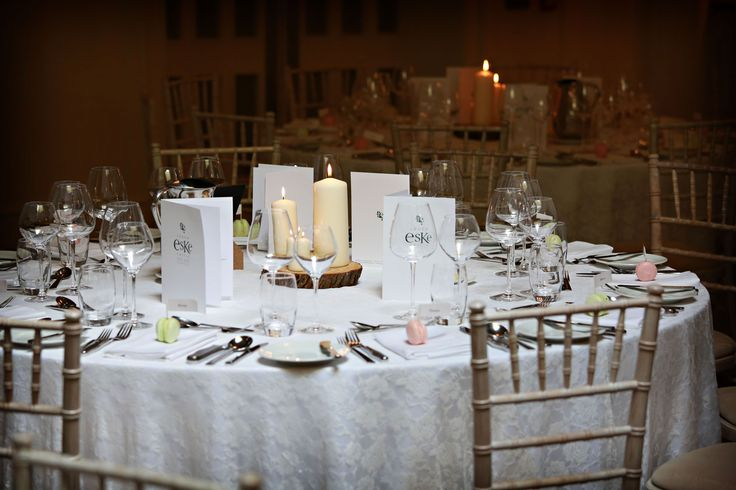 Table detail reception Lough Eske Donegal Wedding Photography