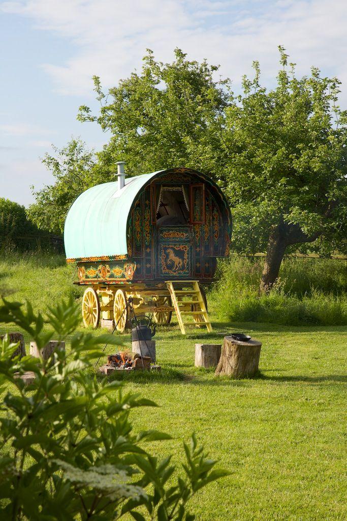 www.gypsycaravanbreaks.co.uk   view of the orchard