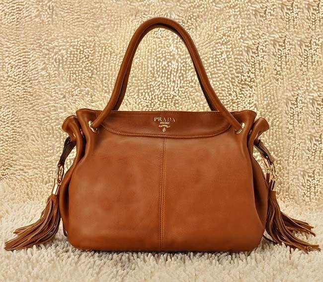 2014 frange cuir sac prada femme sacs main marron - Sac A Main Color