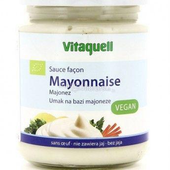 Maionese vegana prodotta senza uova.