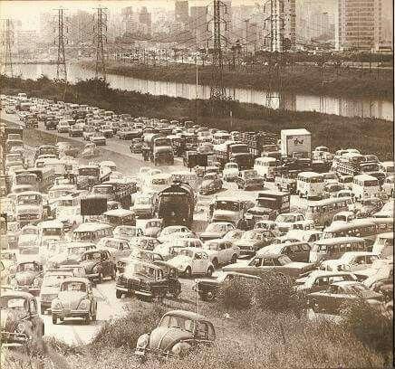 Marginal Pinheiros em 1972.