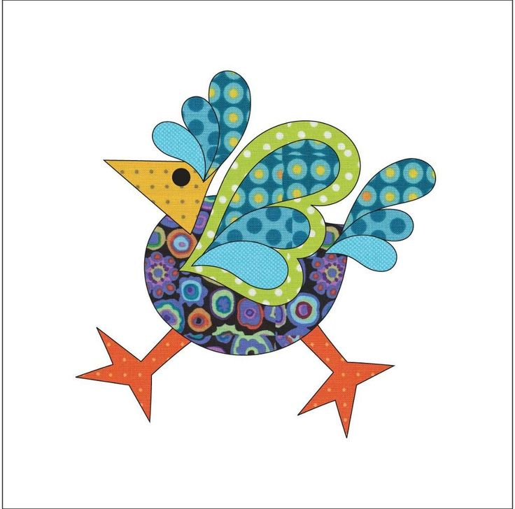 (7) Name: 'Quilting : Applique Add On's - Funky Chicken