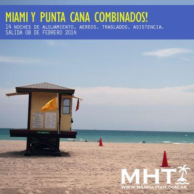 #MIAMI + #PUNTACANA...excelente combinación! Disfruta unas vacaciones inolvidables.