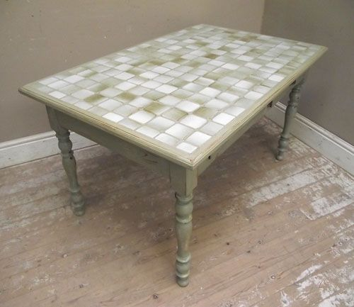 Kitchen Table Top Tiles: 17 Best Images About Dining Table Makeover On Pinterest