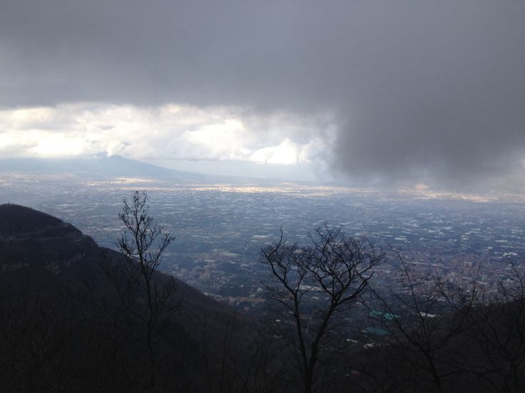 Sky + clouds + sea + winter in Amalfi Coast
