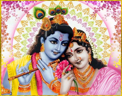 "✨ RADHA KRISHNA ✨Artist: V.V.SagarSri Krishna Caitanya Mahaprabhu said: ""Do not expect honor, but offer all respect to others. Always chant the holy name of Lord Krishna, and within your mind render service to Radha and Krishna in Vrindavana.""~Chaitanya Caritamrta Antya 6.237"