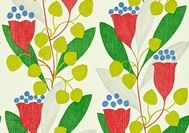 Sanderson Colour for Living Wallpapers - Bellflower - Red/Emerald