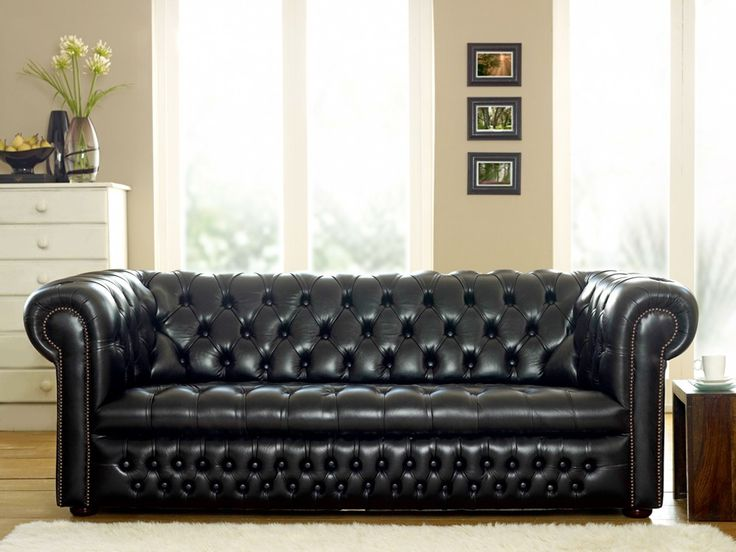 Ludlow Black Chesterfield Sofa