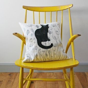 Cat in the Meadow Cushion