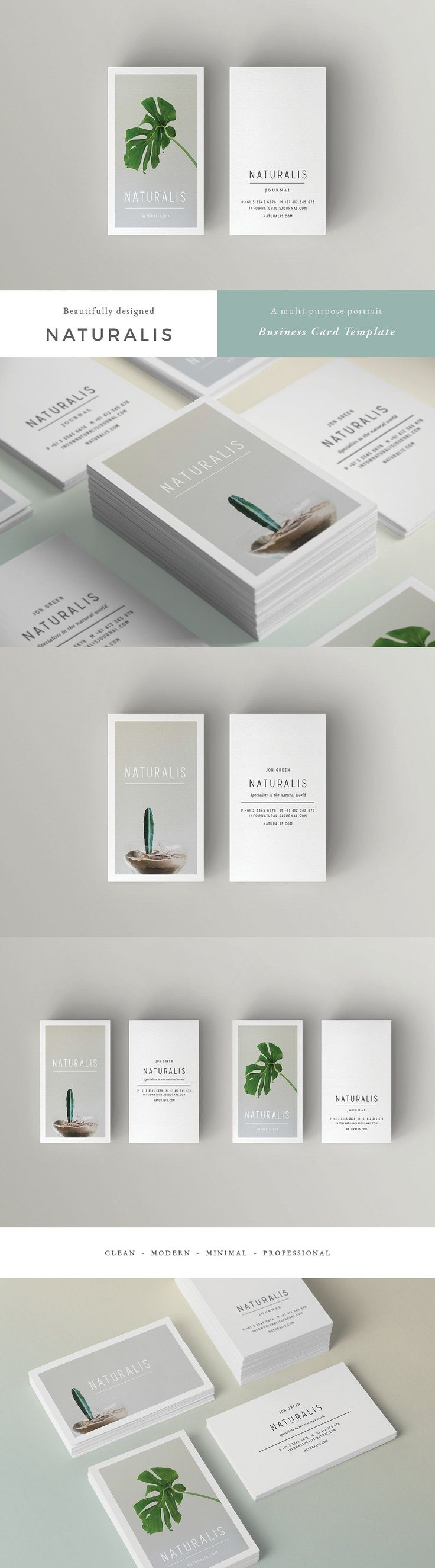 NATURALIS Business Card Template by 46&2 Collective on @creativemarket