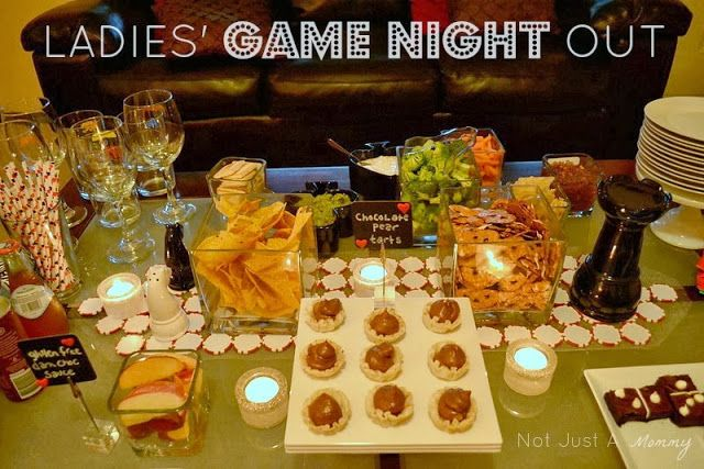 Ladies' Game Night Ideas - so many clever ideas here for a game night! #LadiesNight