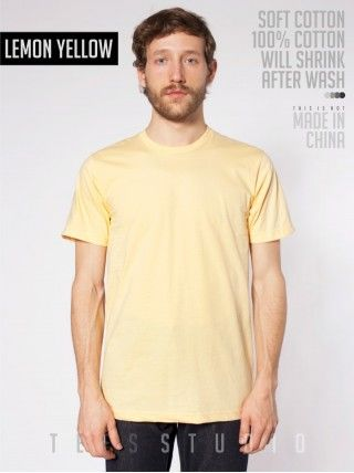 LEMON YELLOW Blank Basic O neck - Tees Studio