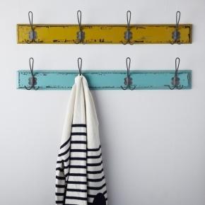 Very cute vintage coat hooks - love the colors.