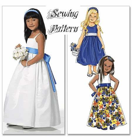 Butterick 5458 Girls Bridesmaid Dress Pattern
