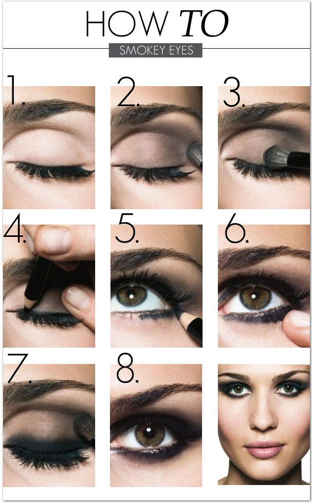 Use brown eyeliner instead of black for a less dramatic look