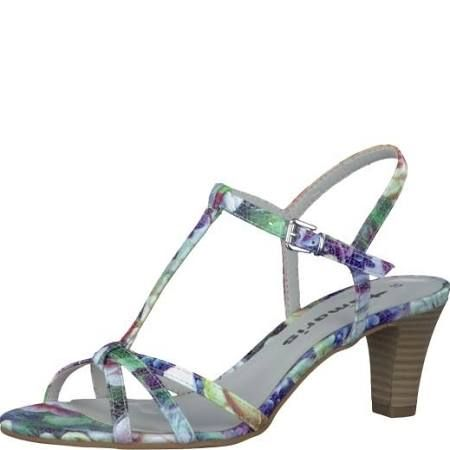 Tamaris Leslie Ladies Multi-Coloured Strappy Heeled Sandal.