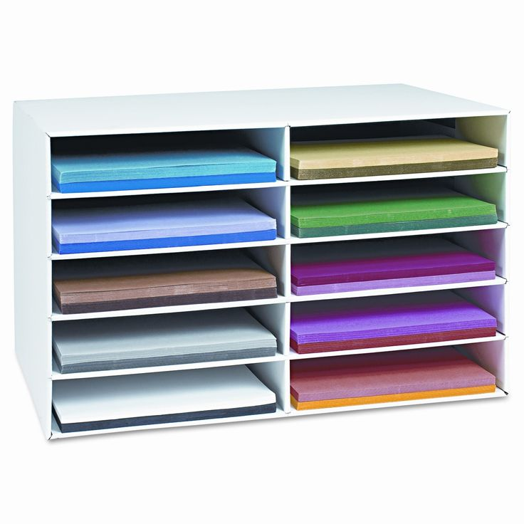 Pacon Creative Products Classroom Construction Paper Storage, 10 Slots, 26 7/8 x 16 7/8 x 18 1/2 for $21.74