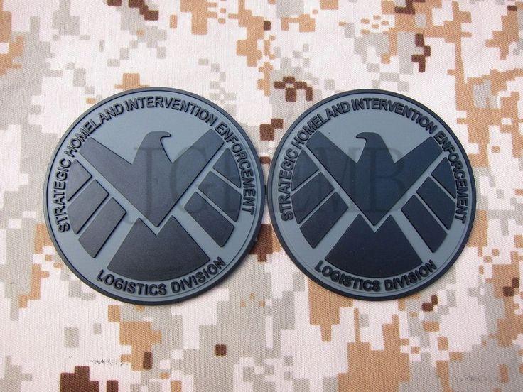 Grey The Avengers S.H.I.E.L.D Tactical Military Morale 3D PVC Velcro Patch words #JGF2005 #TheAvengers