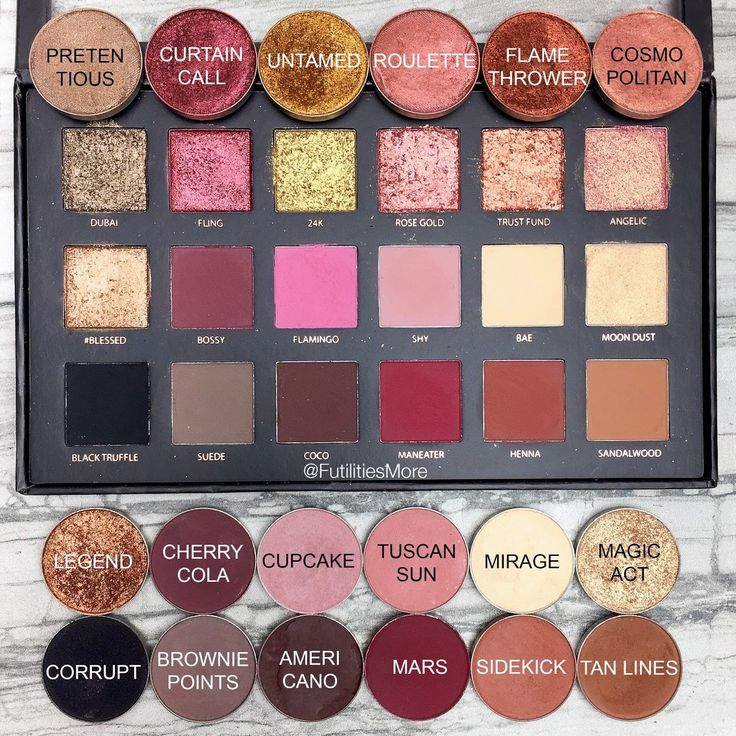 Huda Beauty Rose gold Textures shadows palette dupes with Makeup Geek eyeshadows
