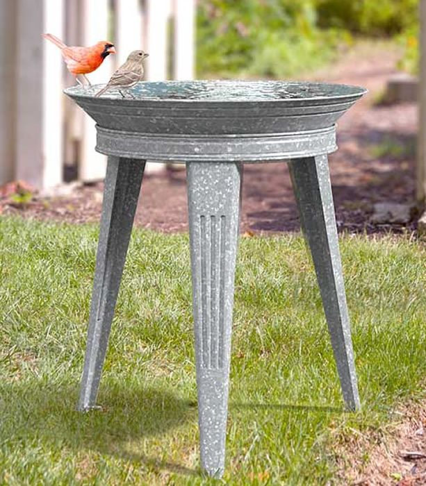 Pin By Sue Gambone On Cardinal Garden Metal Bird Bath Diy Bird Bath Rustic Bird Baths
