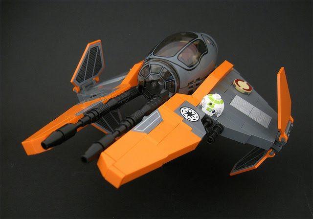 "Lego Eta-2 Actis-class Light Interceptor by Kevin ""legorevolution"" Murney. Via ."