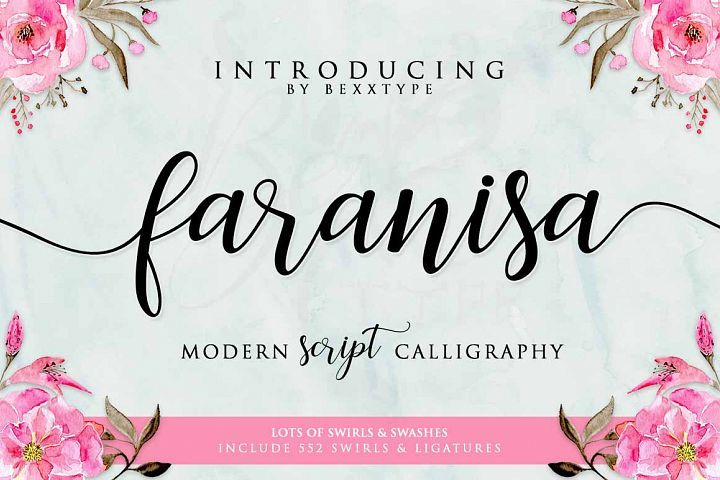 Faranisa Script from FontBundles.net