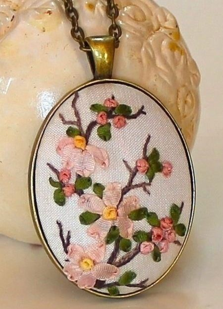 Humming Needles, ribbon embroidery
