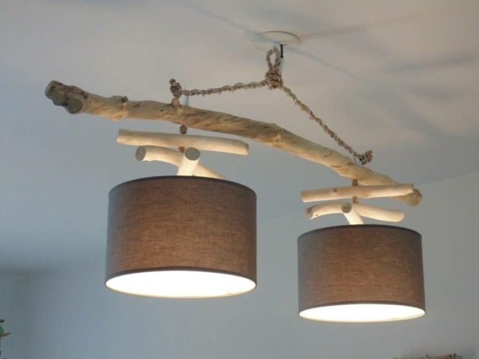 Treibholz Lampe Diy Ideen Windlichter Basteln Modern Mit Altem