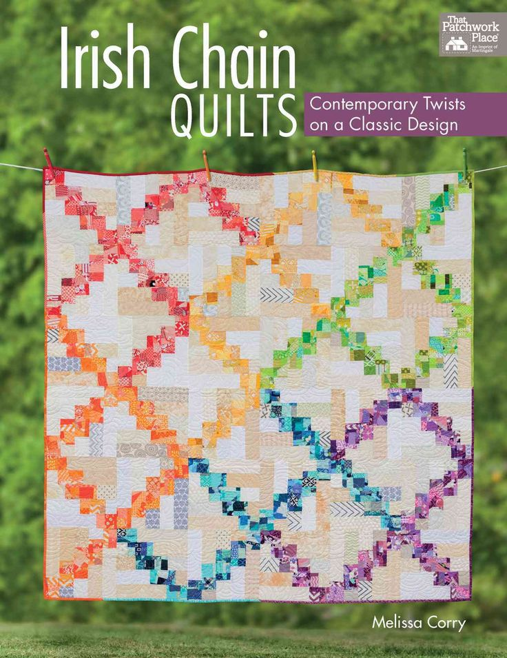 Presents instructions for creating fifteen quilt with updated Irish chain patterns, that use various construction methods to create unique designs.