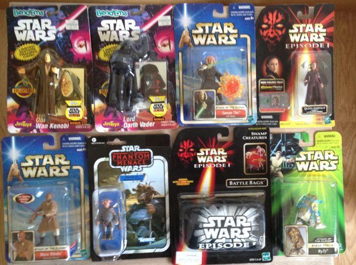Star Wars 8 x cijfers veel - Hasbro / Just speelgoed - 1993/2012 - Obi  Darth Vader Bend-Ems zeldzame sneak preview figuur R3-T7 Amidala Swamp schepsel pack Mawhonic Mace Windu Saesee Tiin  Star Wars 8 x cijfers veel - Hasbro / net speelgoed - 1993/2012 - Obi  Darth Vader Bend-Ems zeldzame sneak preview figuur R3-T7 Amidala  Swamp schepsel pack Mawhonic Mace Windu Saesee Tiin-Just speelgoed Bend-Ems - Obi Wan Kenobi & Darth Vader - Ben zeepbel gele cijfers beide kaarten niet rechte en…