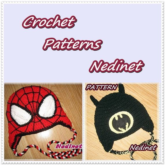 Instant Download Superhero hat PATTERN by NedinetCreations on Etsy