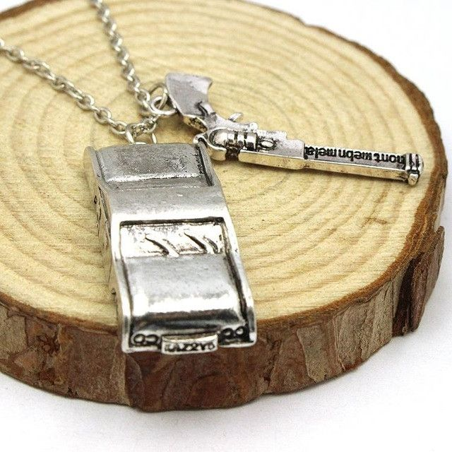 Supernatural Dean Winchester Metallic Car Necklace