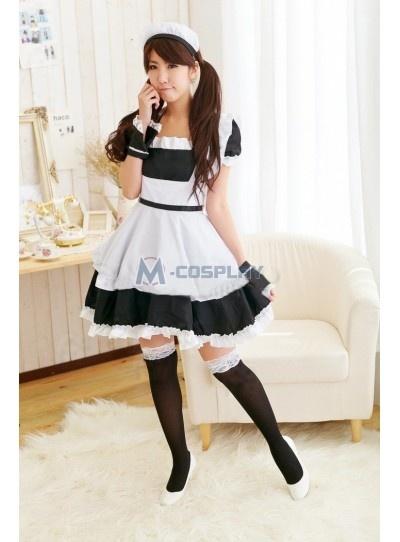 Black and White Lolita Maid Dress