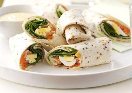 Wraps met zalm en ei | Een gerecht dat vol met eiwitten zit!