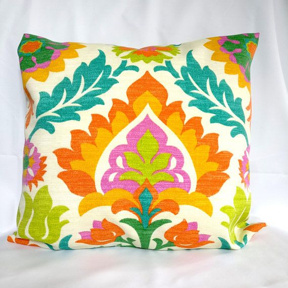 OUTDOOR Pillow Covers Blue Orange Pillow Cases, Green Pillow, Pillows  Decorative Pillows 18x18, 16X16, 14x14, 12x12, 10x10