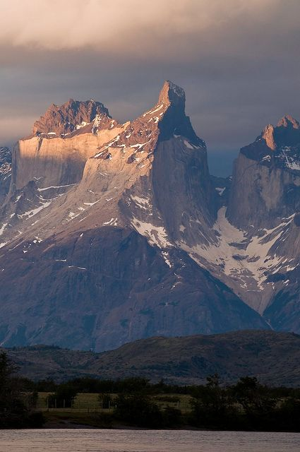 Sunset Torres del Paine, Chile. I want to go see this place one day. Please check out my website thanks. www.photopix.co.nz