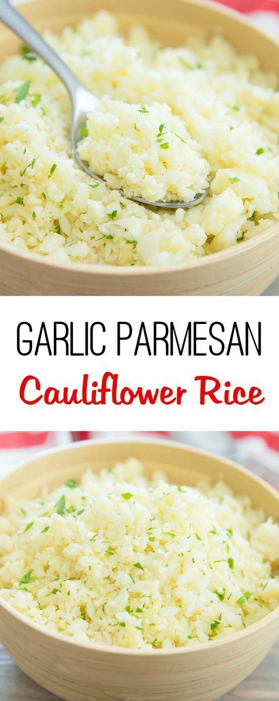 Garlic Parmesan Cauliflower Rice: