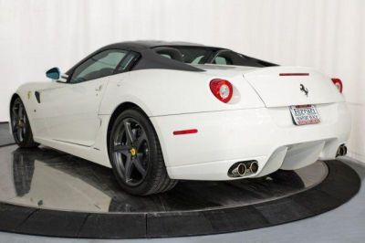 Rear- 2011 #Ferrari 599 GTB Fiorano F1A White http://www.iseecars.com/used-cars/used-ferrari-for-sale  Used Ferrari for Sale: 37 Cars at $59,000 and up | iSeeCars.com