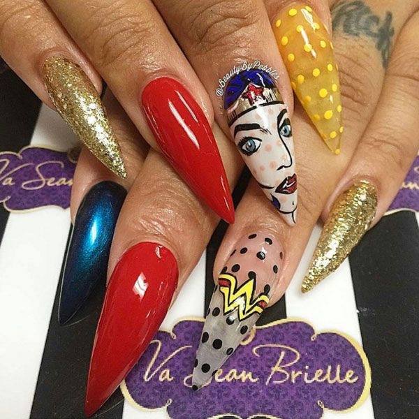 Wonder Woman Nail Art: 17 Best Images About Character Nails And Pop Art On