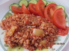 Гречка в томатном соке(подходит под минус 60 обед и ужин) Продукты: гречневая крупа (у меня жареная -коричневая гречка) болгарский перец- 1 шт томатный сок (у меня домашний -без соли и сахара )
