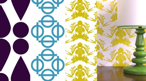 Given Campbell Wallpapers!! Hand Printed too. These graphics are incredibly bold
