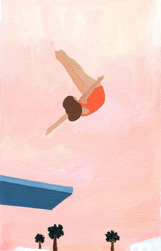 Let's celebrate the summer season one more time with some warm, nostalgic paintings by Toronto-based artist Caitlyn Murphy. More on the blog: http://www.artisticmoods.com/caitlyn-murphy/