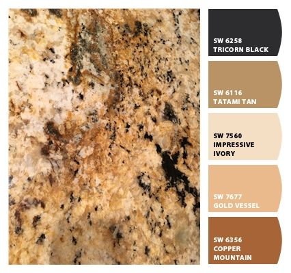 Paint colors from ColorSnap by Sherwin-Williams, colonial cream granite
