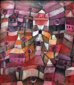 Paul Klee: 1920, Color, Gardens, Rose Garden, Paul Klee, Artist, Roses Garden, Painting, Rosegarden